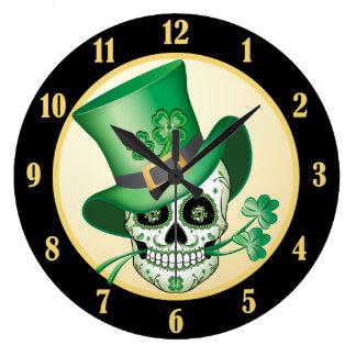 Relógio Grande Crânio irlandês do açúcar