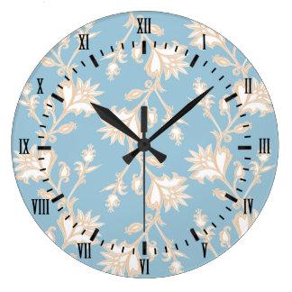 Relógio Grande Creme do estilo do vintage e Victorian azul