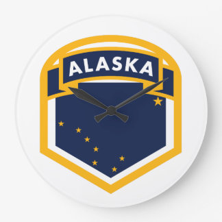 Relógio Grande Crista da bandeira do estado de Alaska AK