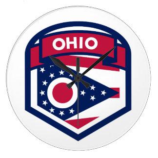 Relógio Grande Crista da bandeira do estado de Ohio dada forma