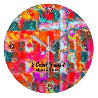 Relógio Grande Cristo Liveth em mim 93