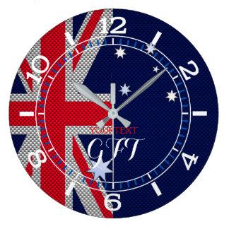 Relógio Grande Cromo australiano personalizado do carbono do