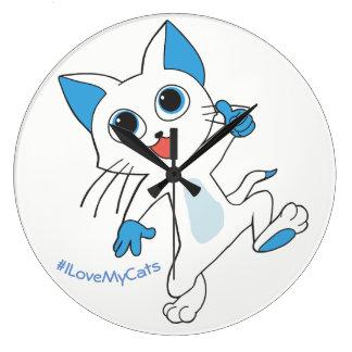 Relógio Grande ™ culpado dos gatos - amor que de I meus gatos