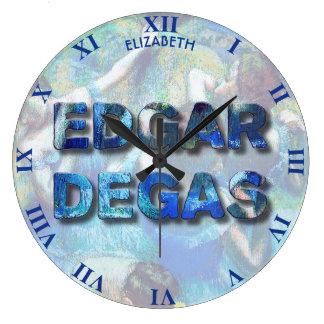 Relógio Grande Dançarinos azuis impressionista franceses de Edgar
