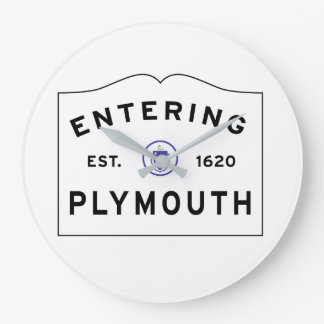 Relógio Grande Dê boas-vindas a Plymouth a MÃES
