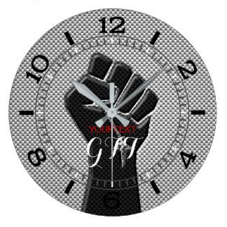 Relógio Grande Decoração personalizada da fibra do carbono do