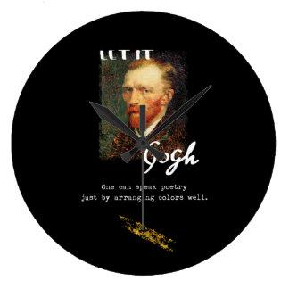 Relógio Grande Deixado o citações de Gogh Vincent van Gogh que