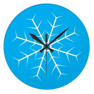 Relógio Grande Deixais lhe para nevar pulso de disparo congelado