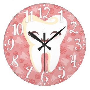 6ac4f9161ba Relógio Grande Dente bonito - pulso de disparo de parede cor-de-r