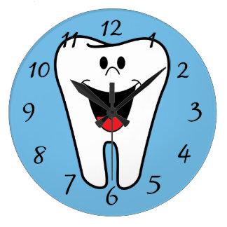Relógio Grande Dente feliz da cara