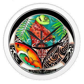 Relógio Grande Desenho da arte do camaleão