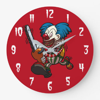 Relógio Grande Desenhos animados coloridos do horror do Dia das