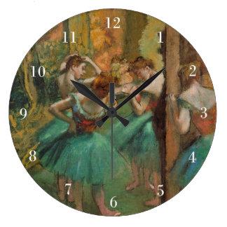 Relógio Grande Desgaseifique dançarinos rosa e verde