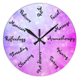Relógio Grande Design cor-de-rosa/roxo da terapia da beleza