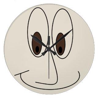 Relógio Grande Design de sorriso engraçado da cara