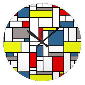 Relógio Grande Design do estilo de Mondrian