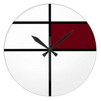 Relógio Grande Design do estilo de Piet Mondrian: marrom
