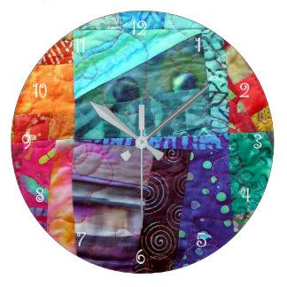 Relógio Grande Design estofando do Batik