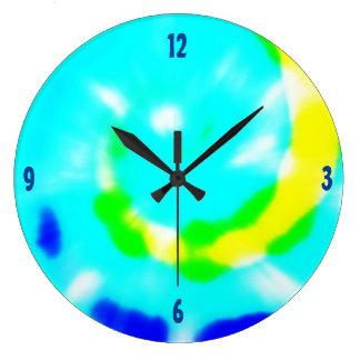 Relógio Grande Design Groovy da tintura do laço
