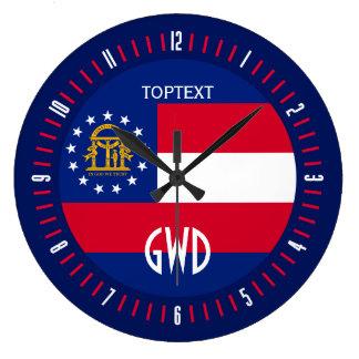 Relógio Grande Design personalizado da bandeira do estado de