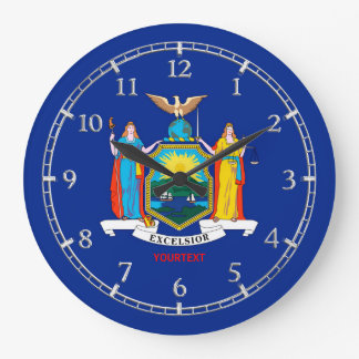 Relógio Grande Design personalizado da bandeira dos Estados de