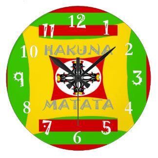 Relógio Grande Design surpreendente bonito de Hakuna Matata