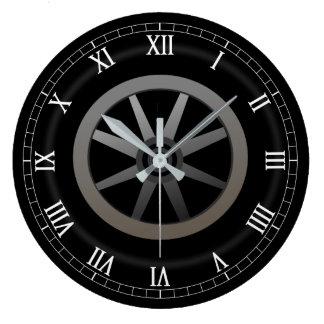 Relógio Grande Design temático da roda de carro auto