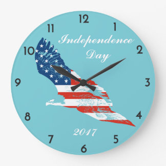 Relógio Grande Dia da Independência - bandeira americana em Eagle