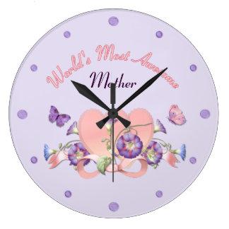 Relógio Grande Dia das mães floral da corriola