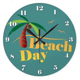 Relógio Grande Dia perfeito da praia do verão