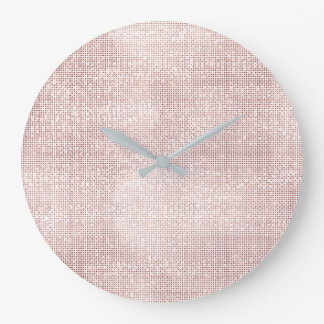 Relógio Grande Diamante metálico da escova do falso do ouro do