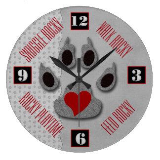 Relógio Grande Divertimento para que o amante do cão diga o tempo