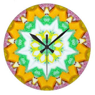 Relógio Grande Doces doces do Natal com Fractal do coco