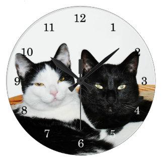 Relógio Grande Dois gatos no amor