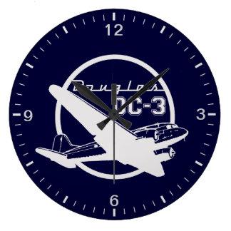Relógio Grande Douglas DC-3