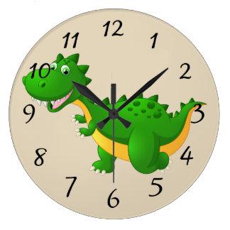 Relógio Grande Dragão bonito dos desenhos animados