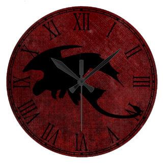Relógio Grande Dragão medieval da fantasia do vintage