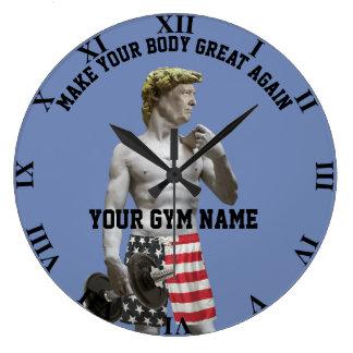 Relógio Grande Dumbbell engraçado e calças de Donald Trump do