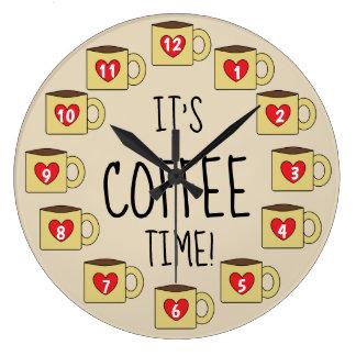 Relógio Grande É design adorável das canecas de café do TEMPO do
