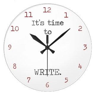 Relógio Grande É hora de escrever