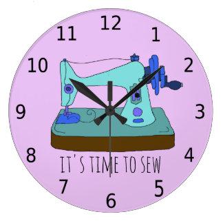 Relógio Grande É hora de sew com números