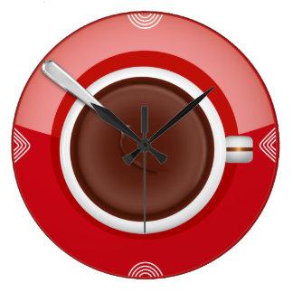 Relógio Grande É pulso de disparo de parede do tempo do café circ