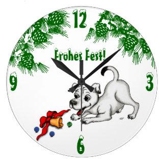 Relógio Grande em alemão natal com filhote sino e bola