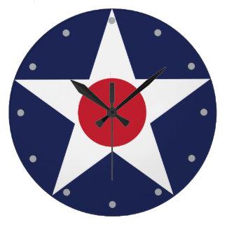 Relógio Grande Emblema do serviço aéreo