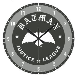 Relógio Grande Emblema retro do bastão da liga de justiça |