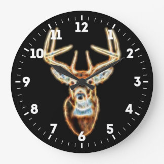 Relógio Grande Energia principal dos cervos espirituoso em a