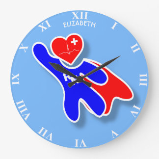 Relógio Grande Enfermeira diplomada super RN da maravilha, com