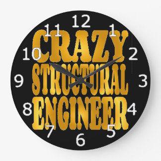 Relógio Grande Engenheiro estrutural louco no ouro