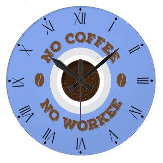 Relógio Grande Engraçado nenhum café nenhum pulso de disparo de