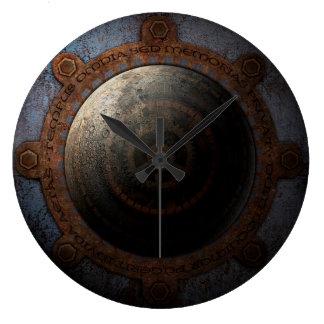 Relógio Grande Engrenagens do metal da horas da lua de Steampunk